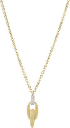 Marco Bicego Lucia 18k Gold Interlock Pendant Necklace