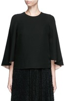 Valentino Open back batwing sleeve silk top