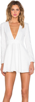 Lumier Deep V Long Sleeve Mini Dress