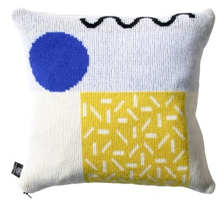 Etro Giannina Capitani Cushion in Yellow & Blue/Red Zip