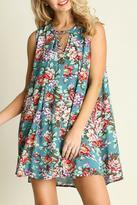Entro Turquoise Ruffle Dress