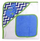 Neat Solutions ; Whale Hooded Towel and Washcloth Set