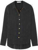 Pierre Balmain Washed-silk Shirt - Black