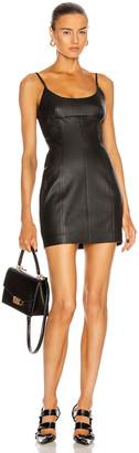 Alexander Wang Leather Cami Mini Dress in Black | FWRD