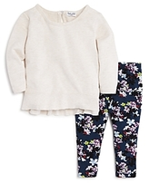 Splendid Girls' Long-Sleeve Top & Printed Leggings Set - Baby