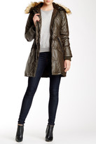 Vince Camuto Faux Fur Trim Down Coat