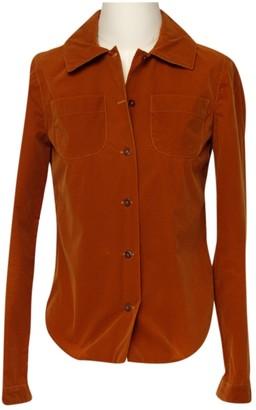 Martine Sitbon Camel Velvet Top for Women Vintage