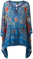 Roberto Cavalli printed draped blouse