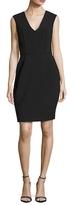 Ava & Aiden Sleeveless Deep V-Neck Sheath Dress