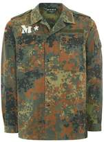 Topman Mens Multi FINDS M*S*H*D Lizard Camouflage Print Shacket