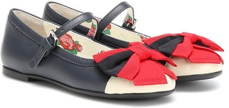 Gucci Kids Leather ballet flats
