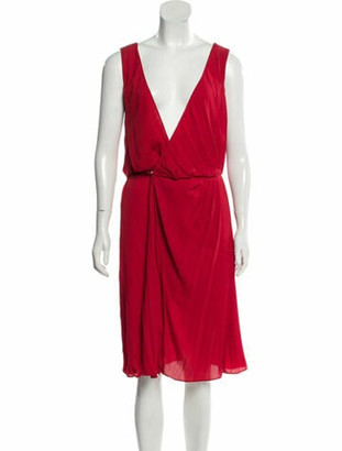 Maison Margiela Pleated Midi Dress w/ Tags Red