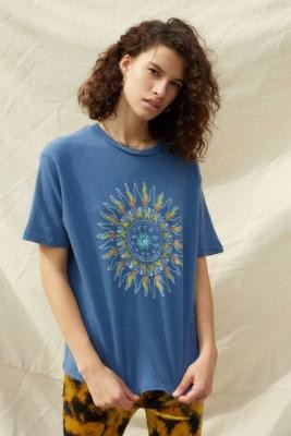 Urban Outfitters Short-Sleeve Sun Graphic T-Shirt - Blue XS at