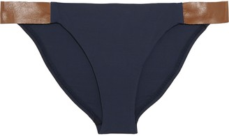 Vix Paula Hermanny Leather-trimmed Low-rise Bikini Briefs
