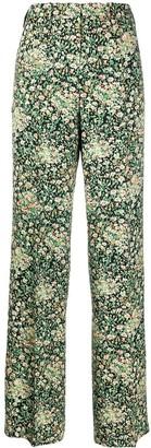 No.21 Floral Print Wide-Leg Trousers