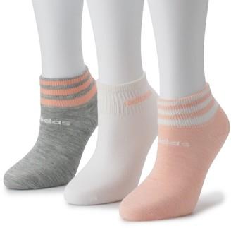 adidas Women's 3-Stripe 3-Pack Low Cut Sock
