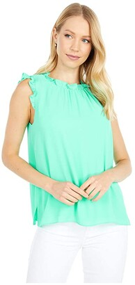 Lilly Pulitzer Talisa Top (Gustavia Green) Women's Clothing