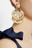 Gas Bijoux Embellished 24kt Gold-Plated Earrings