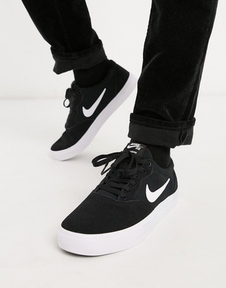 Nike SB Chron suede trainers in black