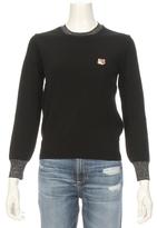 MAISON KITSUNÉ Lurex Trim Pullover Sweater