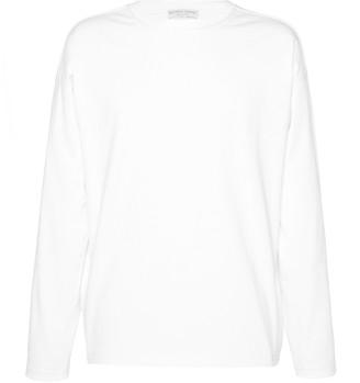 Bottega Veneta Long Sleeve Cotton Crewneck T-Shirt