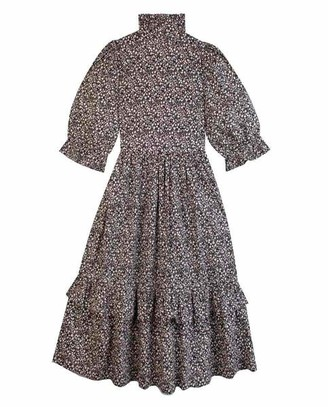 Meadows Clematis Dress Black Floral - 10