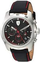 Ferrari Men's 'PRIMATO' Quartz Stainless Steel and Nylon Casual Watch, Color:Black (Model: 830445)