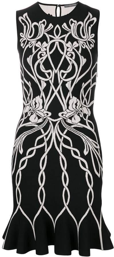 Alexander McQueen knitted jacquard dress