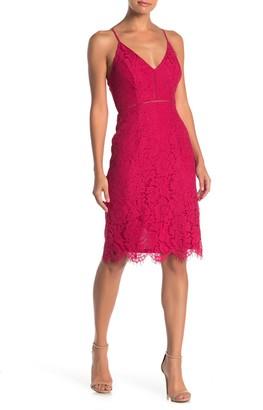 ASTR the Label Lace V-Neck Sheath Dress