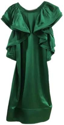 Lanvin Green Silk Dresses