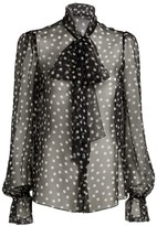 Dolce & Gabbana Sheer Polka-Dot Blouse
