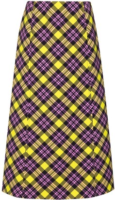 Prada Anne checked pencil skirt