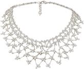 Yeprem 18K White Gold Diamond Statement Necklace