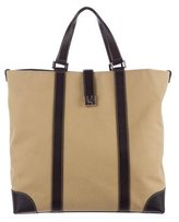 Lambertson Truex Leather-Trimmed Canvas Tote