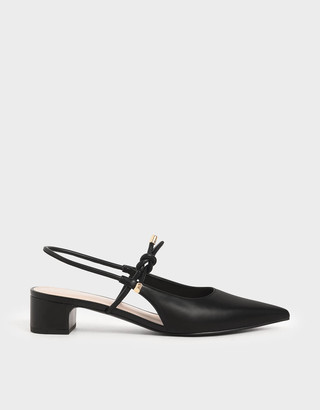 Charles & Keith Front Tie Slingback Court Shoes