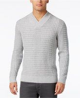 Alfani Men's Textured Shawl-Collar Sweater, Only at Macy's