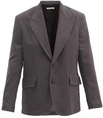 Our Legacy New Bullhead Wool-sharkskin Blazer - Grey