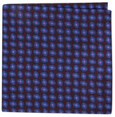 Ted Baker Neat Plaid Double Sided Silk Pocket Square