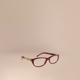 Burberry Canvas Check Detail Oval Optical Frames