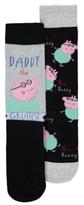 George Peppa Pig Daddy Pig 2 Pack Socks