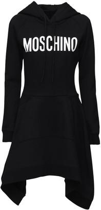 Moschino Logo Printed Jersey Dress W/ Hood