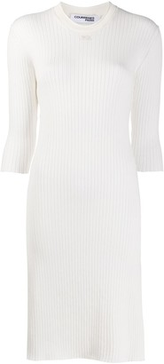 Courreges Ribbed Knit Midi Dress