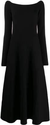 Gabriela Hearst square neck midi dress