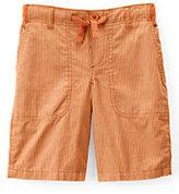 Classic Boys Pull-on Pattern Beach Shorts-Nectarine Pincord