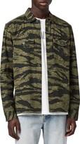 AllSaints Krueger Slim Fit Camo Print Button-Up Shirt