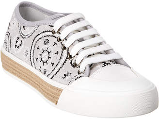 Tod's Tattoo Print Suede Sneaker