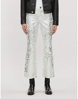 J Brand Selena flared mid-rise corduroy jeans