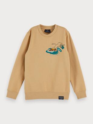 Scotch & Soda Sustainable cotton printed crew neck sweatshirt   Boys