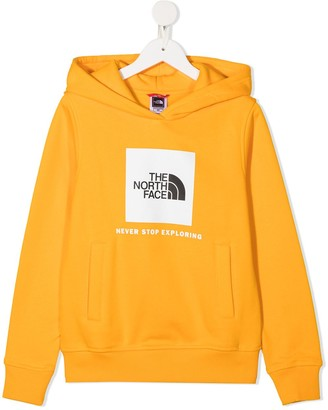 The North Face Kids New Box logo print hoodie