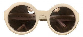 Prada White Plastic Sunglasses